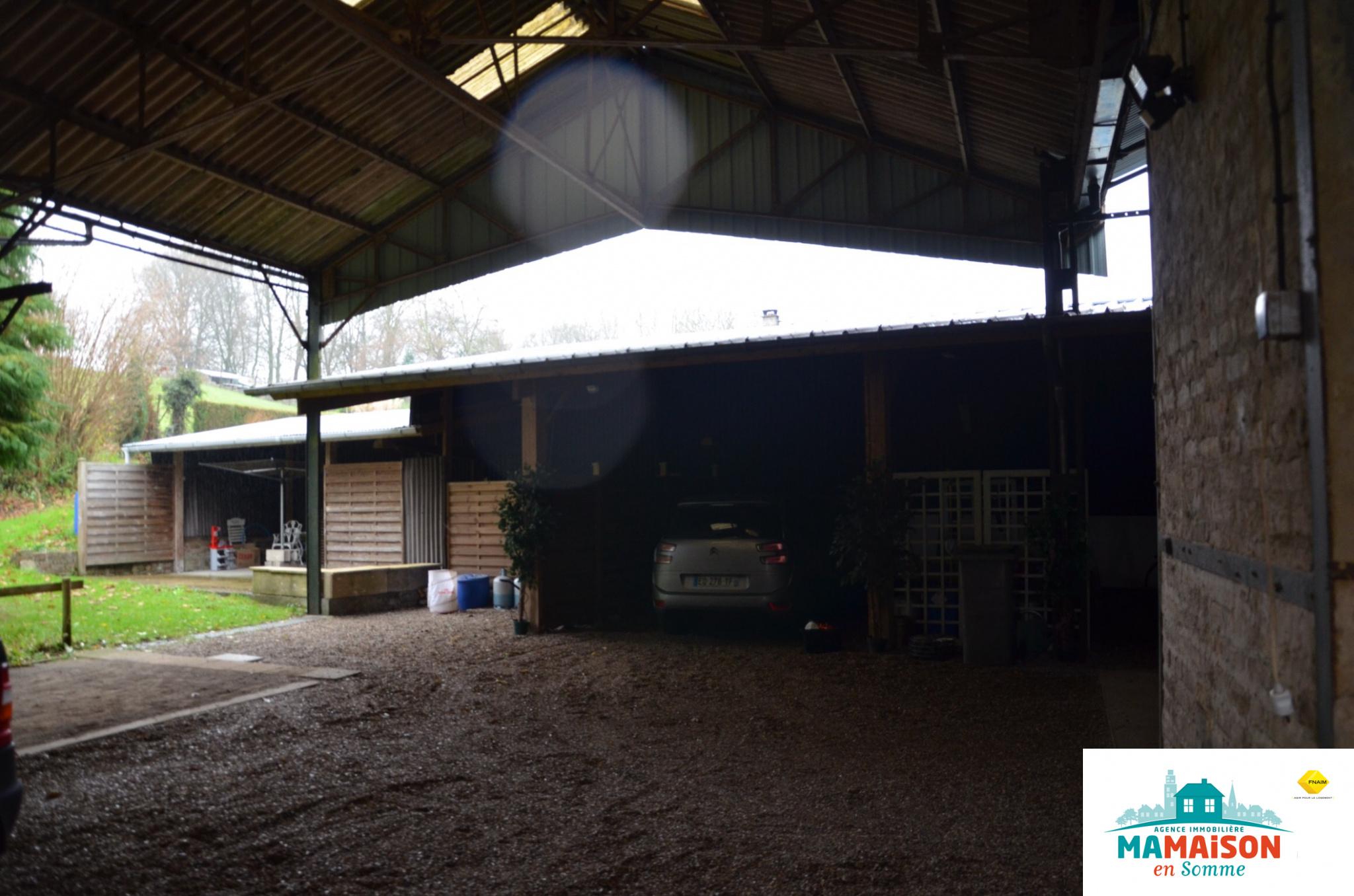 Maison en Somme plain pied Beauval chevaux